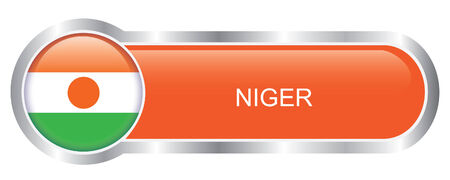 Niger Flag glossy banner  Stock Vector - 29651091