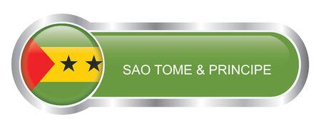 tome: Sao Tome and Principe Flag glossy banner
