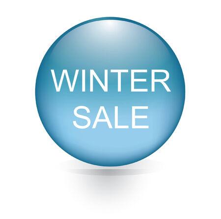 winter sale button  Vector
