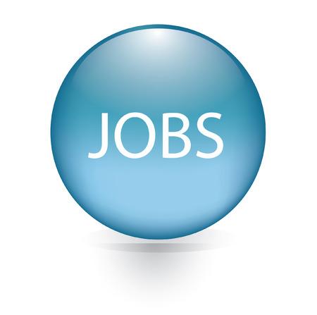 jobs: Jobs blue button  Illustration
