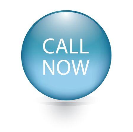 Call now blue button  Vector