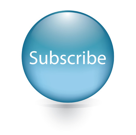 news update: Subscribe word blue button  Illustration