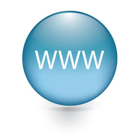 www word blue button  Vettoriali