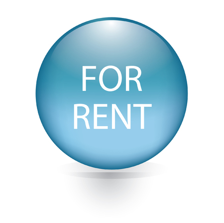 For rent word blue button  Vector