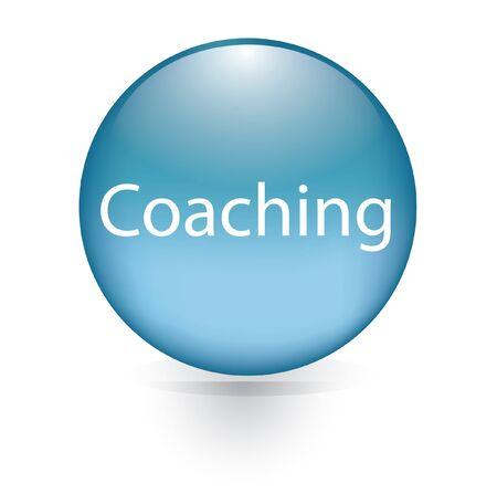 Coaching word blue button  Vector