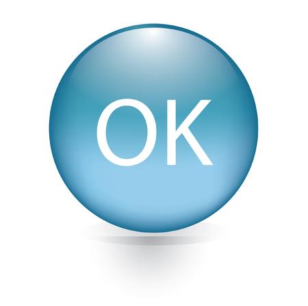 okey: Okey blue button