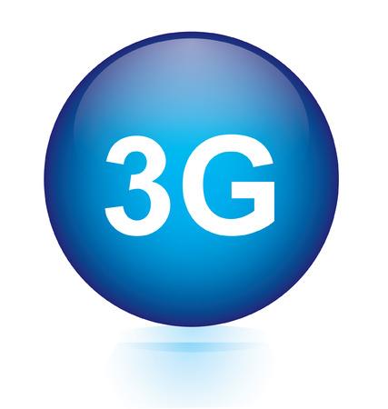 3g: 3G blue circular button