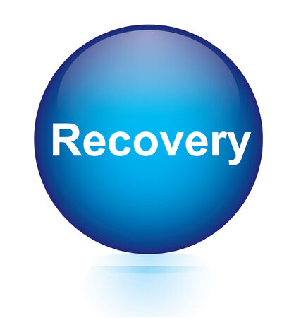 recover: Recovery blue circular button  Illustration