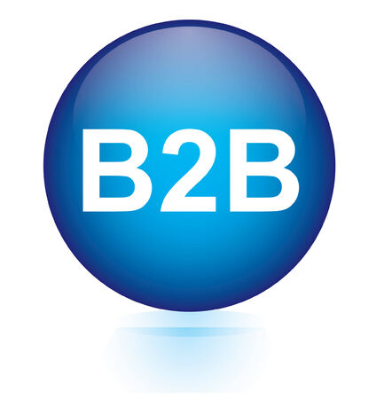B2B blue circular button  Vector