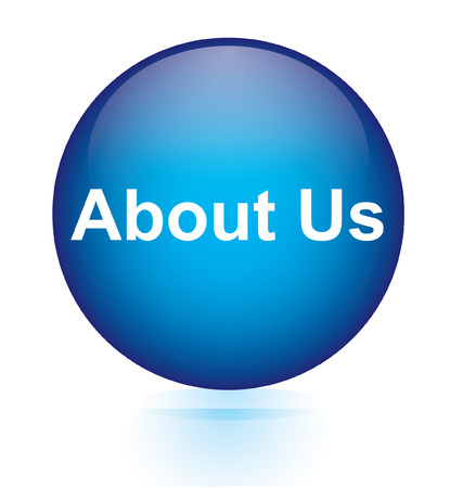 about us: About us blue circular button