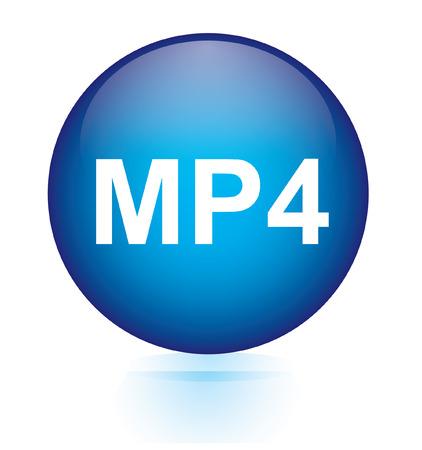 mp4: MP4 blue circular button