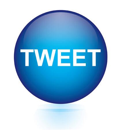 tweet balloon: Tweet blue circular button