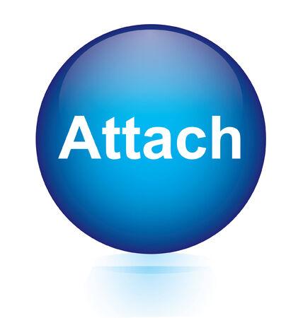 attach?: Adjuntar bot�n azul circular Vectores