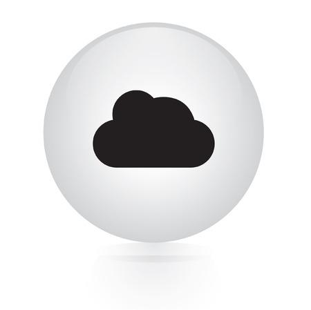 simplus: icono de web bot�n de la nube Vectores