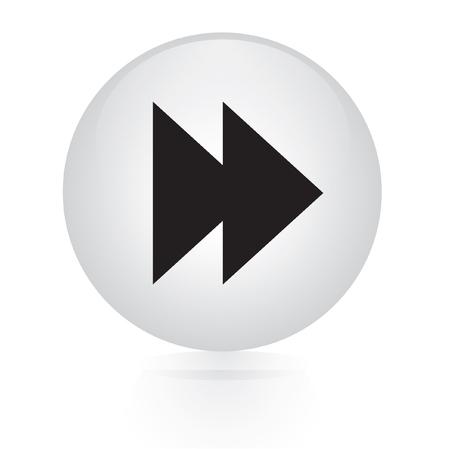 forward button web icon Vector
