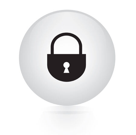 lock button web icon Vector