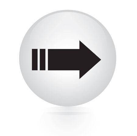 right arrow: right arrow button web icon Illustration