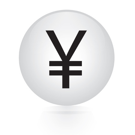 yen sign: Yen sign button  Illustration