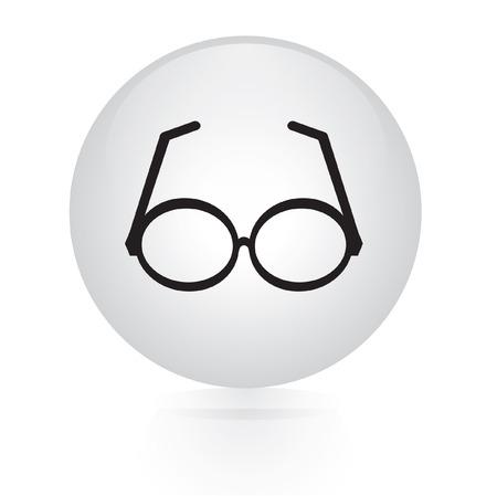 sunglasses sign button web icon  Vector