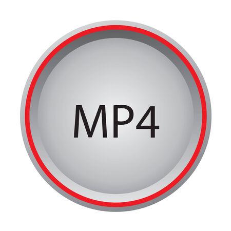 mp4: MP4 icon Illustration
