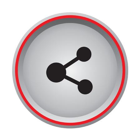 Database circular icon Illustration