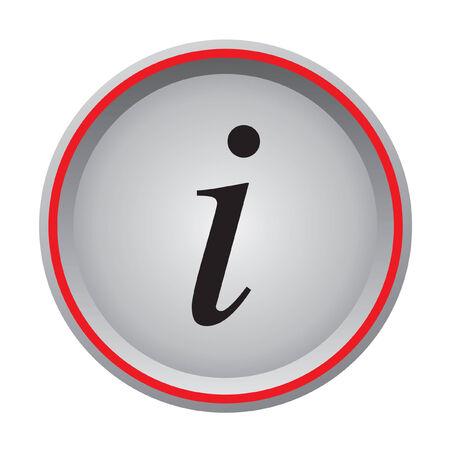 info icon circular button  Illustration