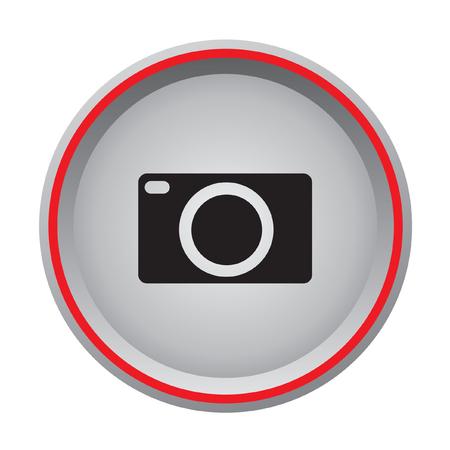 camera computer icon circular button  Vector
