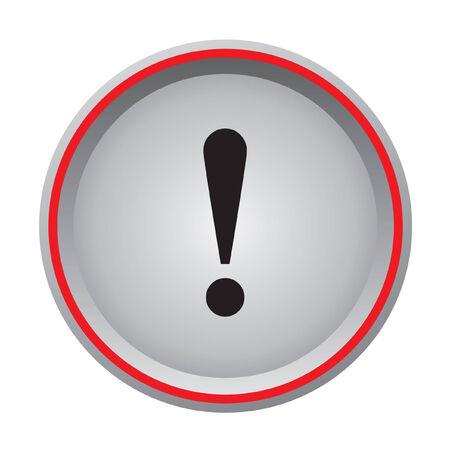 exclamation sign icon circular button  Vector
