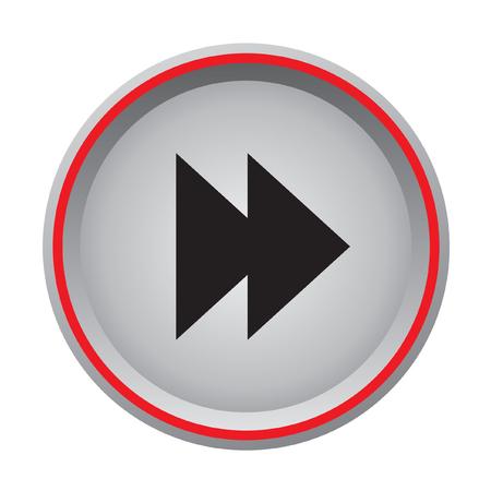 forward circular button  Vector