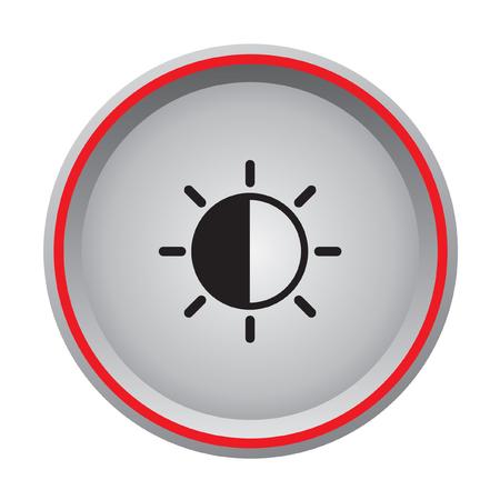 weather icon circular button Illustration
