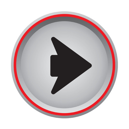 arrow right icon: arrow right icon circular button Illustration