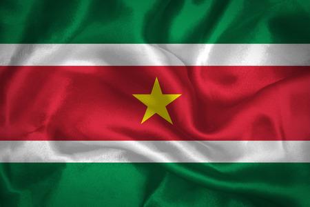 suriname: Golvende vlag van Suriname Stockfoto