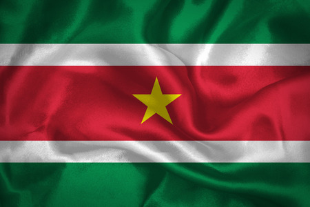 suriname: Waving Flag of Suriname