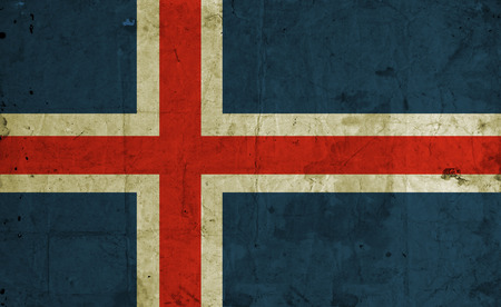 flag of iceland: Bandera sucia de Islandia el papel de la vendimia