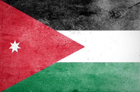 tearing down: Grunge of Jordan Flag Stock Photo