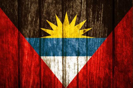 antigua: Antigua and Barbuda on old wood background