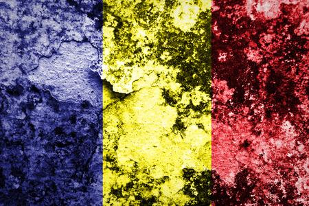 chad: grunge flag of Chad