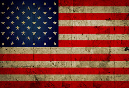 Grunge USA flag background photo