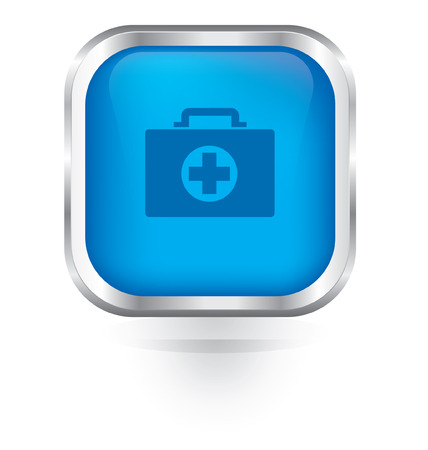 Vector first aid icon glossy button Vector