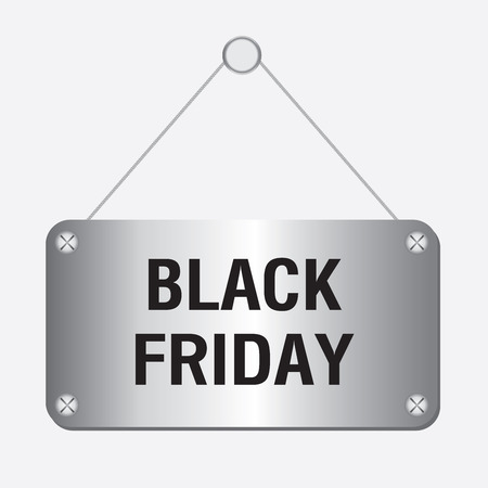 long weekend: silver metallic black friday sign hanging on the wall