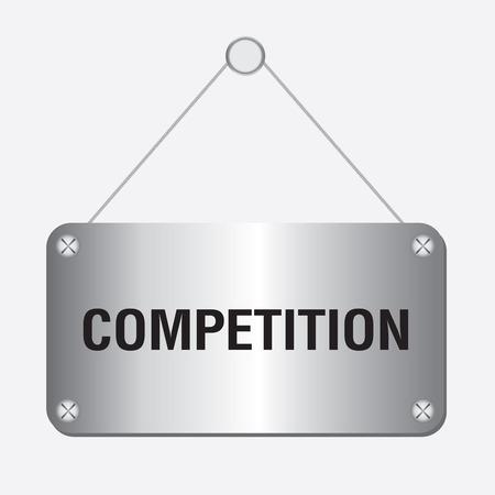 competitividad: muestra plata competencia met�lico colgado en la pared