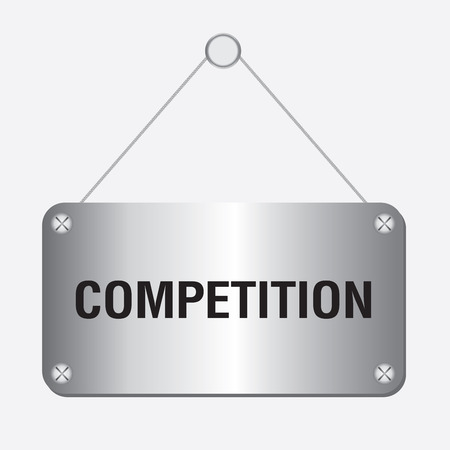 competitiveness: silver metallic competition sign hanging on the wall