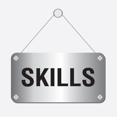 interpersonal: silver metallic skills sign hanging on the wall