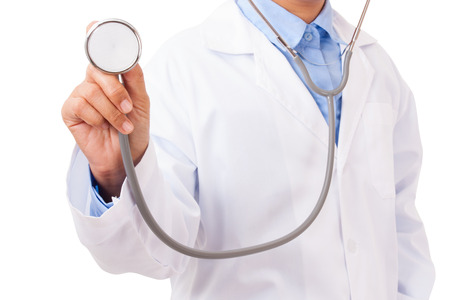 stethoscope: Doctor with a stethoscope in the hands