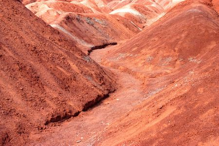 soil erosion caused these undulating hills and valleys Stock Photo