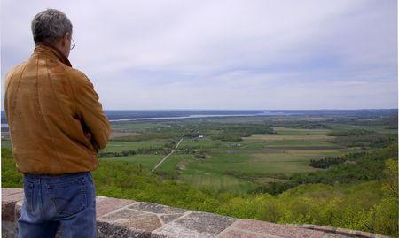vista: vista and man Stock Photo
