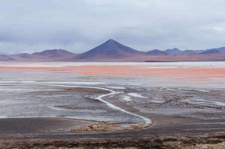 Laguna Colorada in Bolivia altiplano