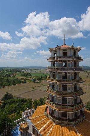 sua: Kanchanaburi, Thailand - August 21, 2016: On Wat Tham Sua, Kanchanaburi Province, Thailand, Religion, Buddhism Editorial