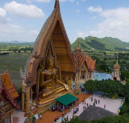 kanchanaburi: Kanchanaburi, Thailand - August 21, 2016: On Wat Tham Sua, Kanchanaburi Province, Thailand, Religion, Buddhism Editorial
