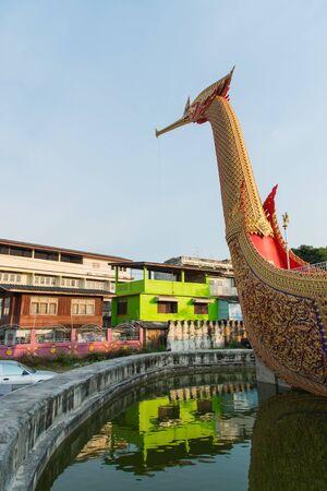 WAT CHA LOR TEMPLE, Suphannahong Boat, NONTHABURI, Thailand